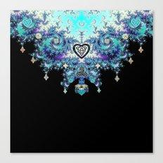 Celtic Fractal Celtic Heart Tapestry Canvas Print
