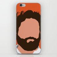 Zach Galifianakis Digital Portrait iPhone & iPod Skin