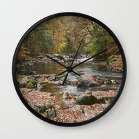 Autumnal Trees And Leave… Wall Clock