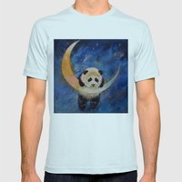 Panda Stars Mens Fitted Tee Light Blue SMALL