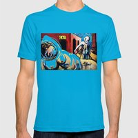 Exit Stage Left Mens Fitted Tee Teal SMALL