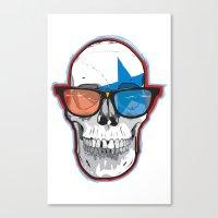 The 3D Star Punk Canvas Print