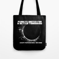 Power to the Planets Tote Bag