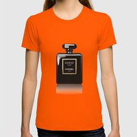 CHANEL Noir Womens Fitted Tee Orange SMALL