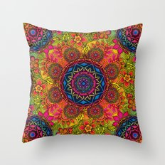baroque mandalas Throw Pillow