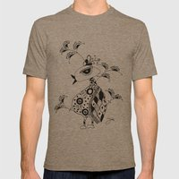 SAFARI Mens Fitted Tee Tri-Coffee SMALL