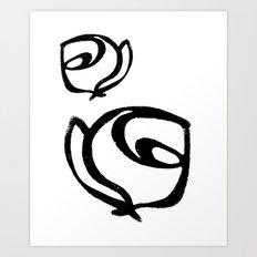Flowers, Mother-Daughter1 Art Print