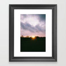 Car at Sunset in New Forest Framed Art Print