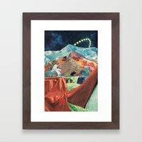 THE MELTING WALL (3) Framed Art Print