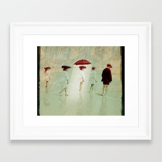 Waiting on a sunny day Framed Art Print