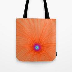 Tangerine Color Explosion Tote Bag