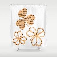PAPERCUT FLOWER 4 Shower Curtain