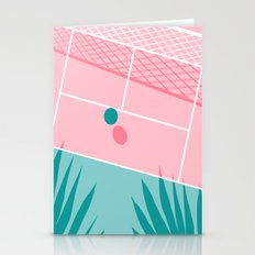 Jock - tennis sport retro neon throwback palm springs los angeles hollywood california sunny pop art Stationery Cards
