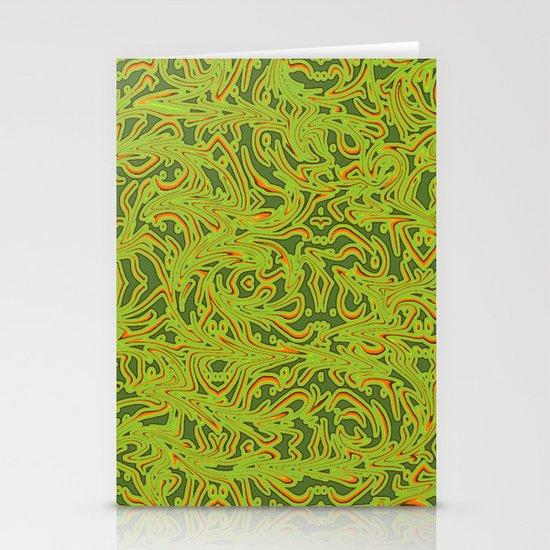 Sixties Swirl Stationery Card