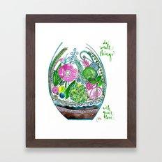 Small Things Terrarium Framed Art Print