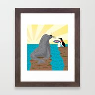 Sealed With A Fish Framed Art Print