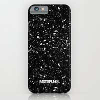 Retro Speckle Print - Bl… iPhone 6 Slim Case