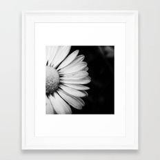Black and White Flower Macro photography monochromatic photo Framed Art Print