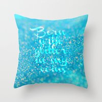 Glitter in my Veins (Photo of Glitter) Throw Pillow