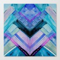Blue Patchwork Canvas Print
