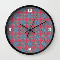 Spinners Pattern Wall Clock