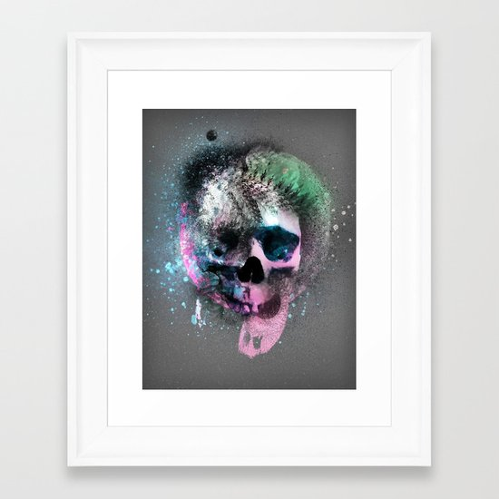 A Skull Framed Art Print