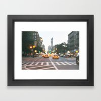 New York City Blur Framed Art Print