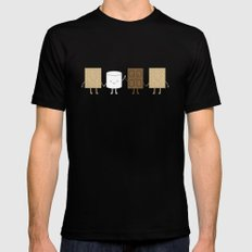 Life is S'more Fun Together SMALL Black Mens Fitted Tee