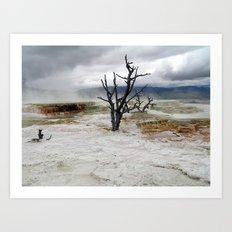 Yellowstone National Park - Hot Springs Art Print
