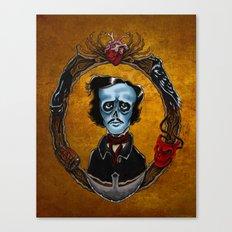 Poe in Color  Canvas Print