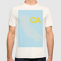 California Mens Fitted Tee Natural SMALL