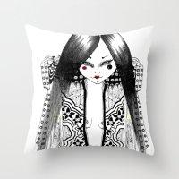 Ma Petite Japonaise Throw Pillow