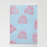 happy birthday Stationery Cards featuring Happy Birthday by sinonelineman