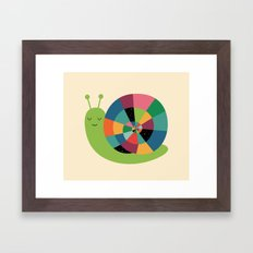 Snail Time Framed Art Print