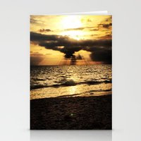 Crepuscular light  Stationery Cards