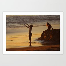 End of a Good Day Art Print