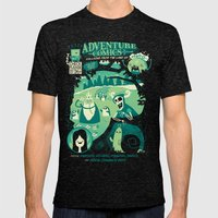 Adventure Comics Mens Fitted Tee Tri-Black SMALL