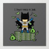 Part Time Job - No Job Canvas Print