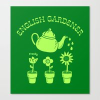 English Gardener Canvas Print