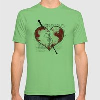 Heart #2 Mens Fitted Tee Grass SMALL