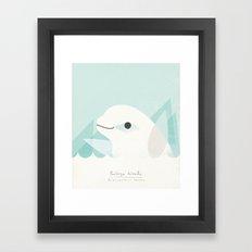 Buluga Whale Framed Art Print