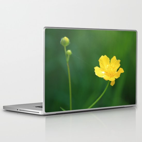Swamp Buttercup Wildflower Laptop & iPad Skin