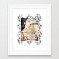 Caliber Love #4 Ornate Framed Art Print