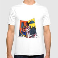 The Artist And His Artwo… Mens Fitted Tee White SMALL