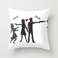 Zombie Hunting Throw Pillow
