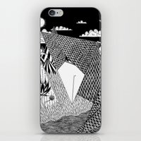 Bird Crossing over the full moon iPhone & iPod Skin