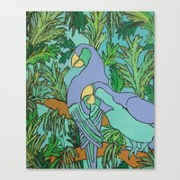 Two Can Blue Canvas Print