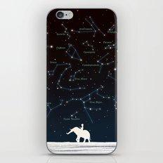 Falling star constellation iPhone & iPod Skin