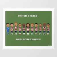 US Soccer  - #GoldCupChamps Art Print