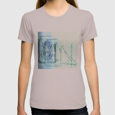 Camera Blue Womens Fitted Tee Cinder SMALL